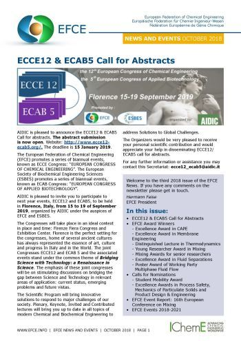 ECCE12 & ECAB5 Call for Abstracts